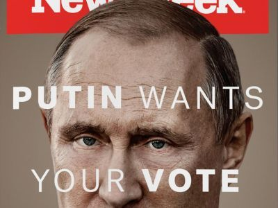 Putin wants your vote. Фото: Newsweek